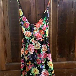 Floral Maxi Dress in Black Multi